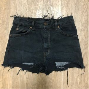 Distressed Black Vintage Levi's Shorts